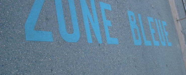 Parkings, zones bleues