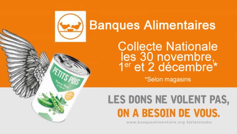 <span style='color:#8B1434;font-size:12px;'>30 novembre, 1er et 2 décembre </span><br> Banque alimentaire : collecte annuelle de denrées