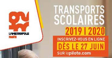 <span style='color:#8B1434;font-size:12px;'>Inscriptions dès le 27 juin</span><br> Transports scolaires