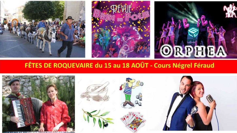 <span style='color:#8B1434;font-size:12px;'>Du 15 au 18 août </span><br> Fête Votive de Roquevaire
