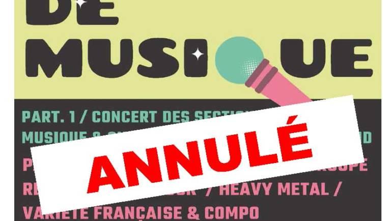 <span style='color:#8B1434;font-size:12px;'>Concert de musique 21 septembre</span><br> ANNULATION