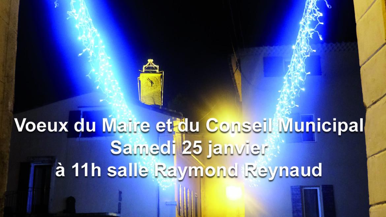 <span style='color:#8B1434;font-size:12px;'>Samedi 25 janvier 2020</span><br> Vœux du Maire et du Conseil Municipal