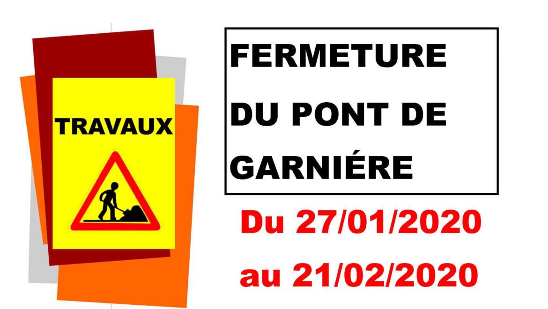 <span style='color:#8B1434;font-size:12px;'>Travaux en cours</span><br> Pont de Garnière