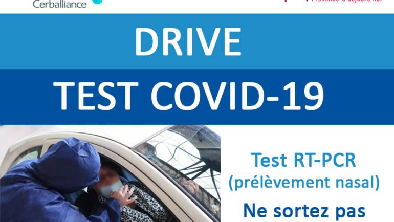 <span style='color:#8B1434;font-size:12px;'>A compter du 18 mai</span><br> DRIVE TEST COVID-19 A ROQUEVAIRE