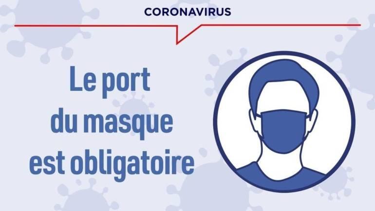 <span style='color:#8B1434;font-size:12px;'>Extension du port du masque obligatoire</span><br> Communiqué