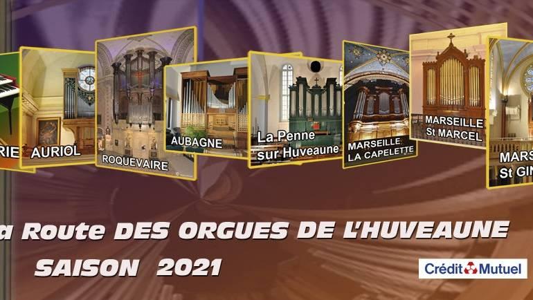 <span style='color:#8B1434;font-size:12px;'>Vendredi 16 avril 2021</span><br> Route des Orgues de l'Huveaune