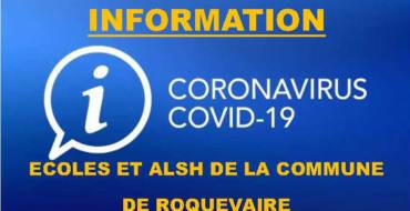 <span style='color:#8B1434;font-size:12px;'>INFO ECOLES ET ALSH</span><br> Covid-19