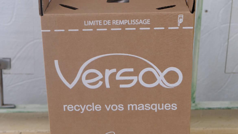 <span style='color:#8B1434;font-size:12px;'>Ensemble, recyclons !</span><br> COLLECTE ET RECYCLAGE DES MASQUES JETABLES