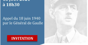 <span style='color:#8B1434;font-size:12px;'>Vendredi 18 juin</span><br> Commémoration Appel du 18 juin 1940